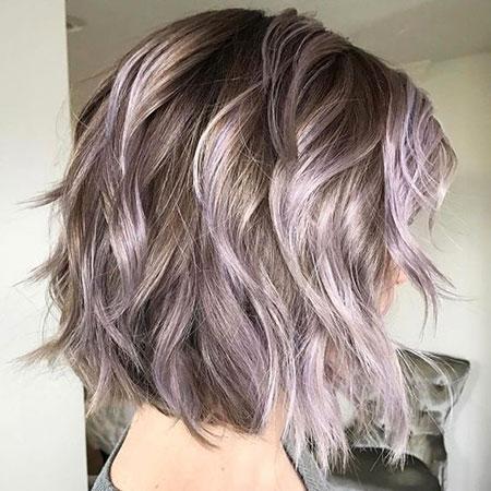 Purple Hair Wavy Pastel