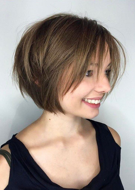 Cute Whispy Bangs, Bob Choppy Short Layered