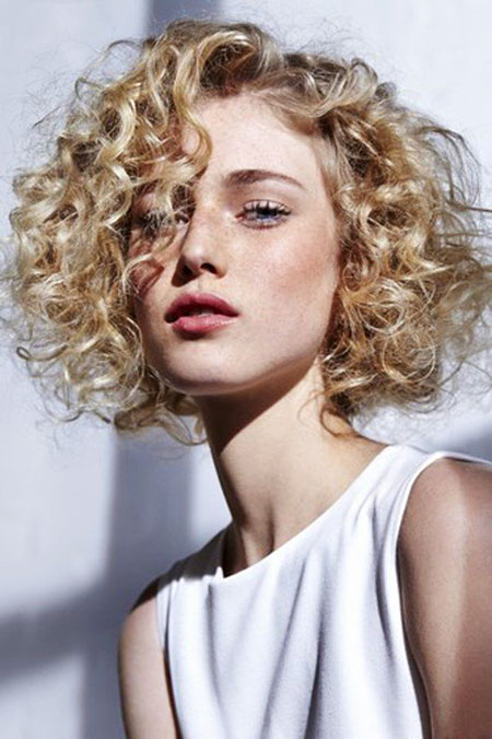 Frizzy Blonde Curls, Curly Hair Curls Short