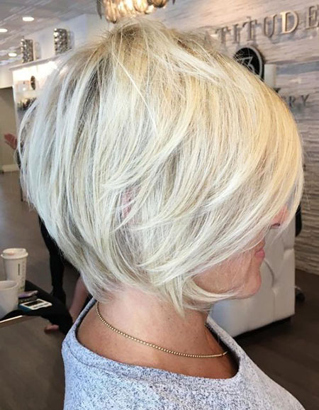 Layered Modern Hair, Blonde Pixie Choppy Bob