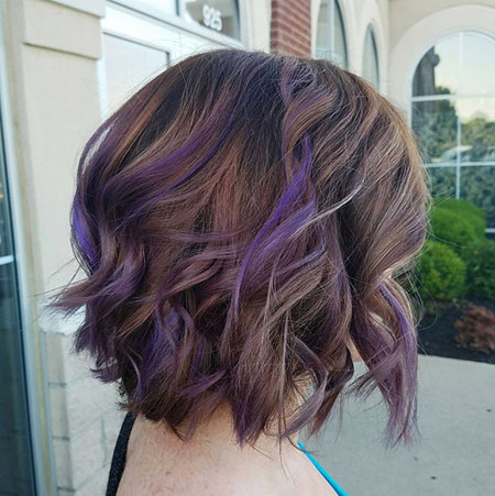 Hair Purple Balayage Highlights