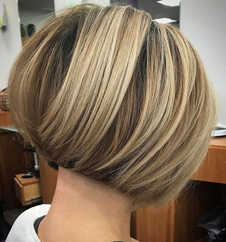 Bronde Stacked Bob, Bob Bronde Stacked Layered