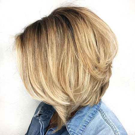 Blonde Bob with Graduation Layers, Bob Blonde Choppy Layered