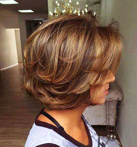Older Women Haircut, Bob Short Layered Hair
