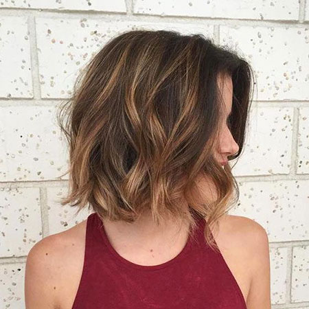 Brown Medium Layered Bob