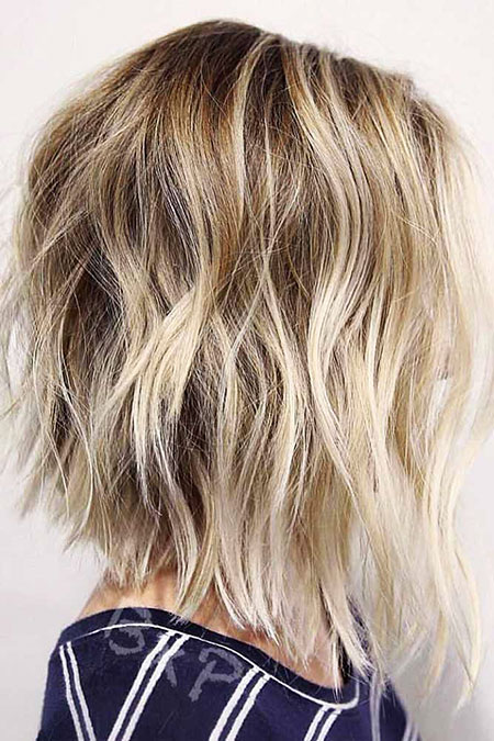 Bob Balayage Blonde Choppy