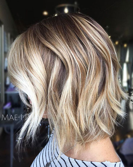 Blonde Bob Wavy Choppy