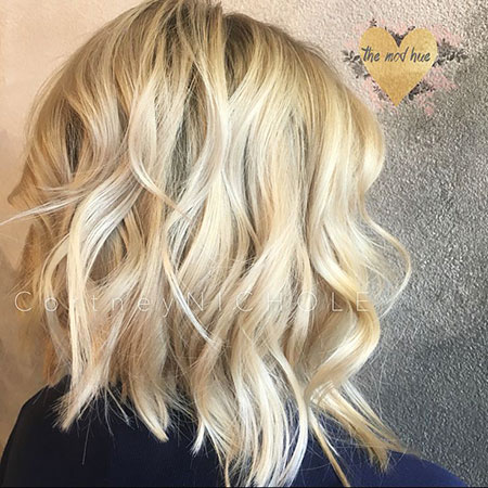 Hair Blonde Color Lob