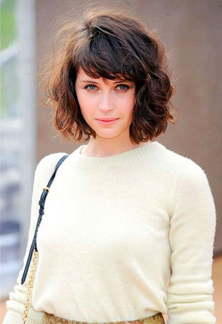 Hair Short Bangs Curly