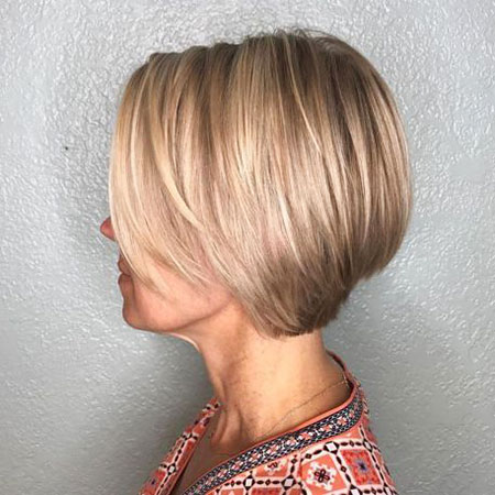 Blonde Bob Fine Stacked