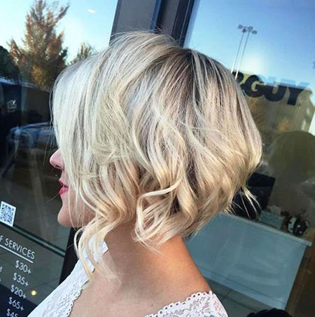 Choppy Blonde Bob Short