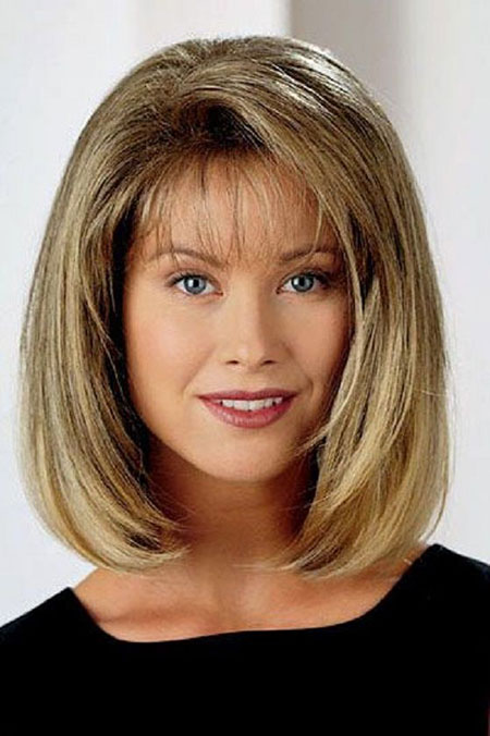 Bob Haircut for Over 50, Medium Length Hair Bob