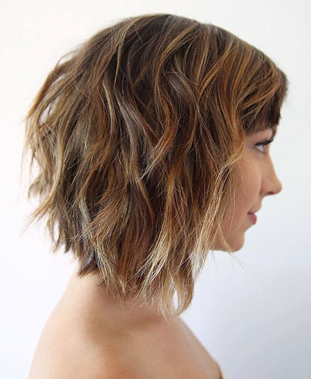 Medium Choppy Bob Hairtyle, Bob Choppy Length Medium
