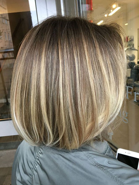 Balayage Bob Layered Length