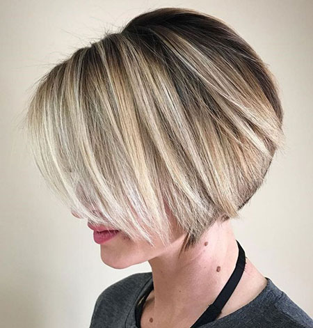 Bob Short Balayage Blonde