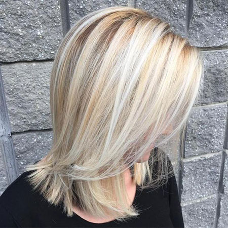 Blonde Length Shoulder Bob