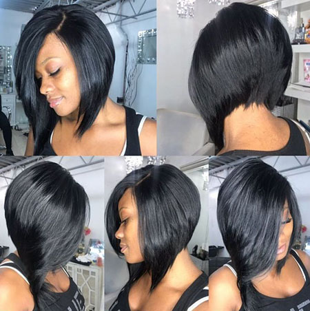 Bob Hair Stacked Black