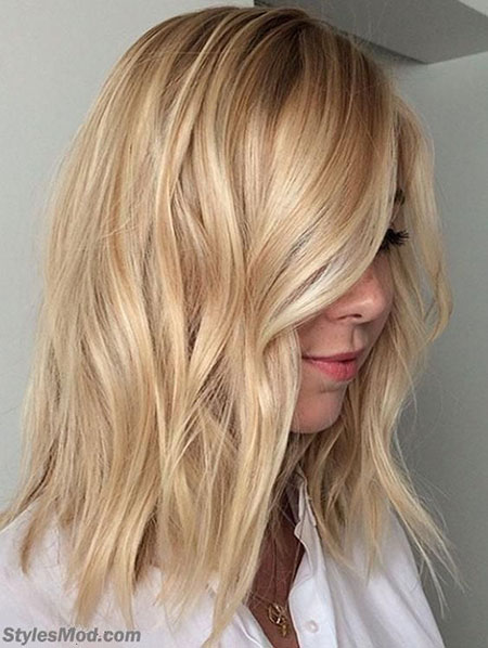 Blonde Hair Bob Length