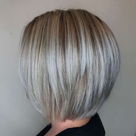 Bob Blonde Gray Short