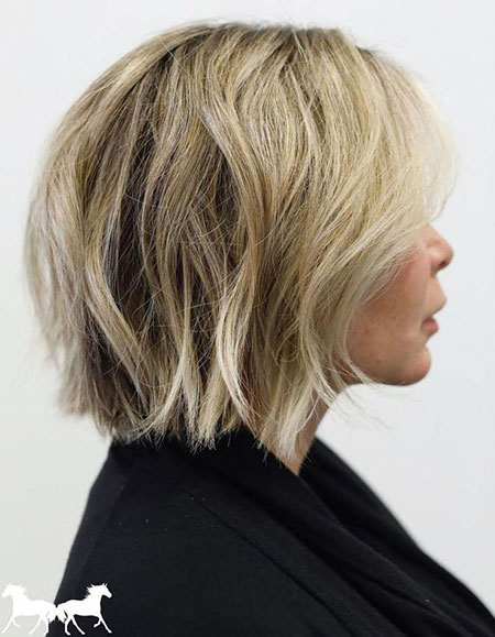 Bob Choppy Blonde Layered
