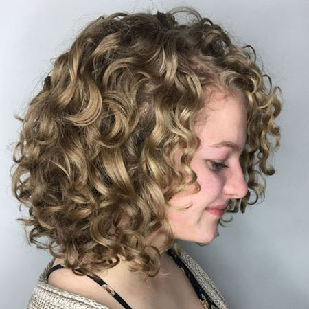 Curly Bob Dark Longer
