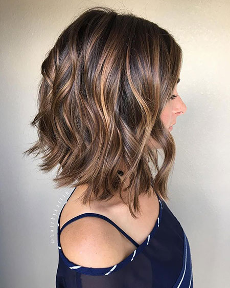 Trendy Blonde Balayage, Bob Hairtyles Hair Lob