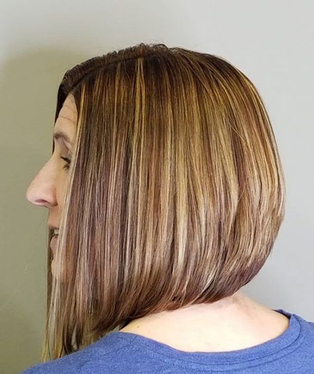 Long Bob with Stacked Look, Bob Hair Length Shoulder