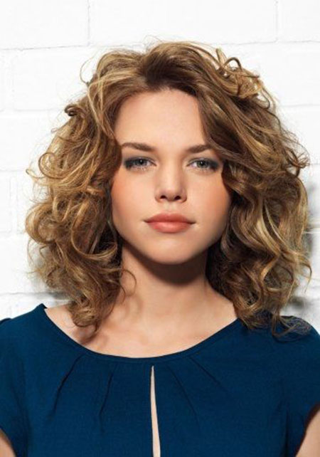 Medium Length Cut, Curly Hair Length Medium