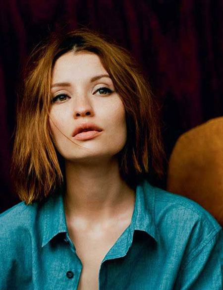 Emily Browning Bob Cut, Bob Brown Short Hair