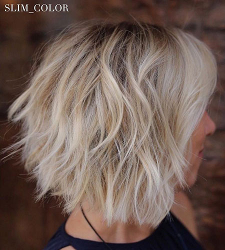 Messy Layered, Bob Blonde Bobs Messy
