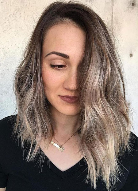 Ashy Blonde, Hair Balayage Length Long