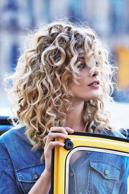 Cute Blonde Curly Hair, Curly Hair Styles De