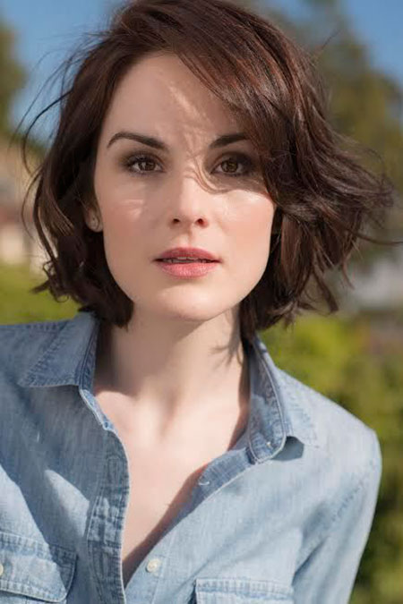 Michelle Dockery Haircut, Wavy Hair Short Length