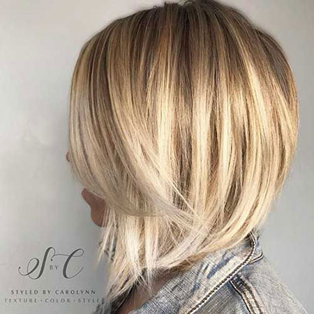 Bob Blonde Choppy Bronde