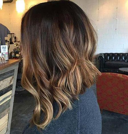 Hair Balayage Bob Caramel