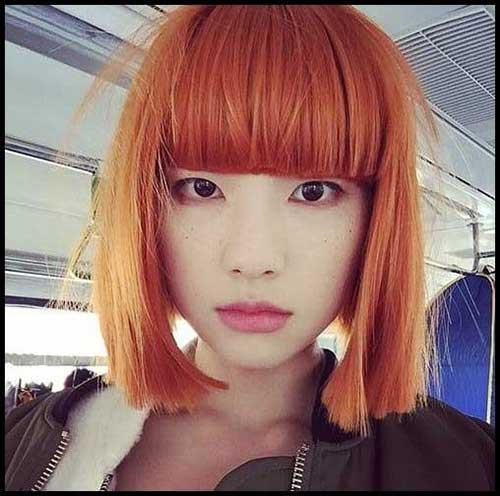 Blunt Bob Hairstyles with Bangs-10