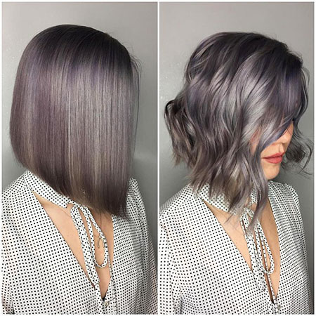 Medium Bob Haircut, Brown Balayage Bob Kim