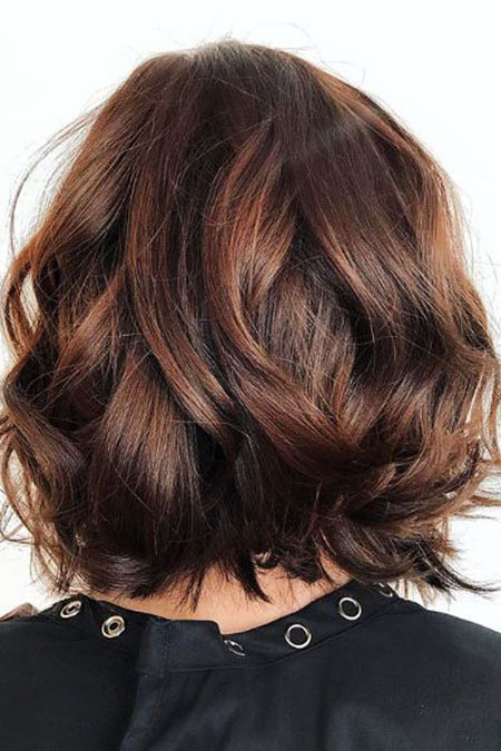 Chocolate Brown Bronde Bob