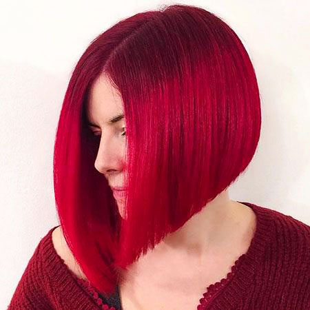 Hair Bob Red Short