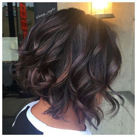 Balayage Hair Bob Brown