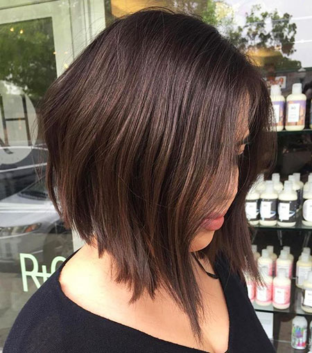 Brown Bob Choppy Lob