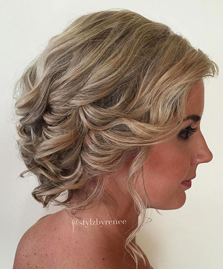 Short Updo Wedding Hair