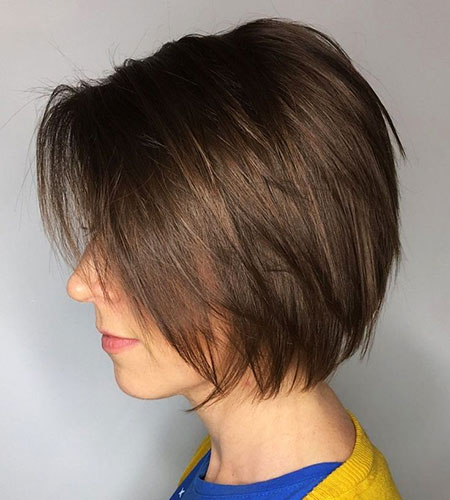 Layered Bob Brown Short