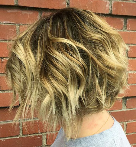 Razored Choppy Short Bob, Bob Wavy Short Blonde