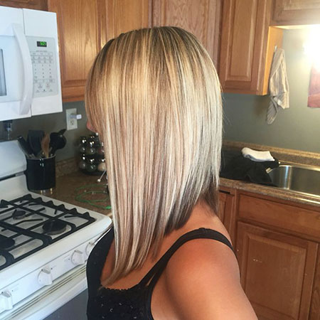 Medium Angled Bob Hair, Blonde Bob Angled Hair