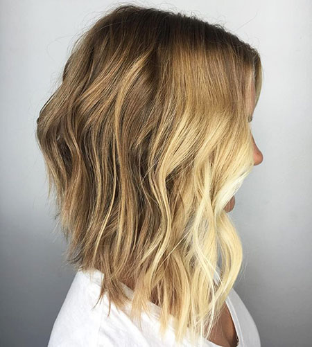 Balayage Bob Choppy Long