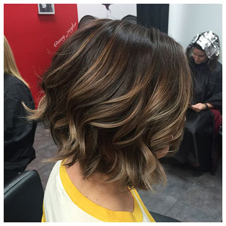 Balayage Bob Brown Long