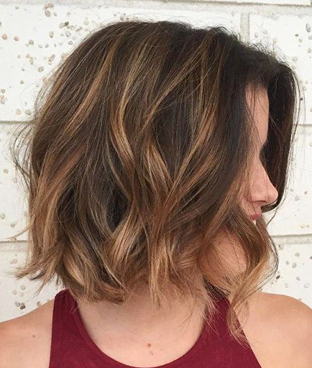 Brown Bob Hair Highlights