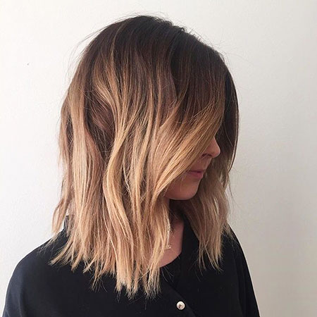 Blonde Length Balayage Dark