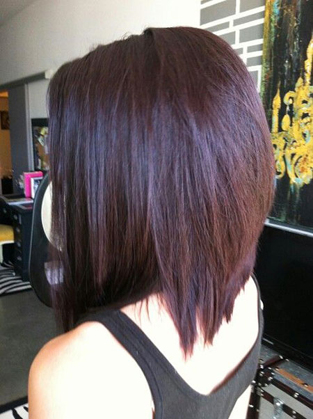 Dark Plum Hair Color, Bob Hair Plum Hairtyles
